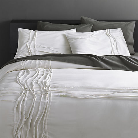 cb2 twisted white duvet cover