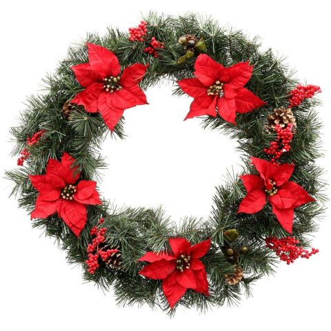 10 best outdoor christmas wreaths for 2017 festive for Best place to buy wreaths