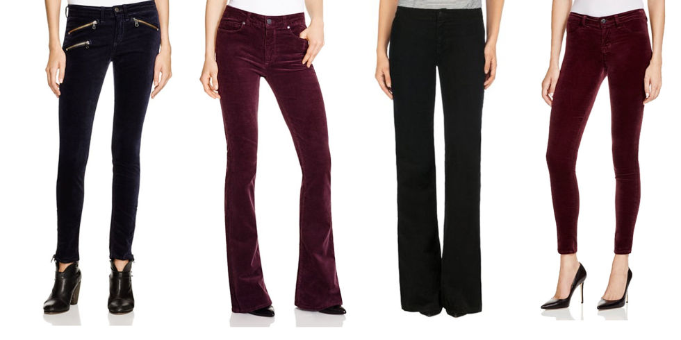 11 Best Velvet Pants for Winter 2017- Womens Velvet Pants and Leggings