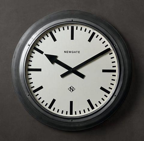 restoration hardware 235inch wall clock
