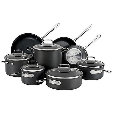 kitchen pots pans sets clad nonstick hard anodized cookware set melissa and doug kitchenaid