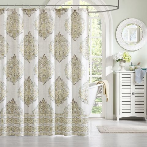 Shower Curtains cotton shower curtains : 15 Best Shower Curtains in 2017 - Unique Cloth & Fabric Shower ...