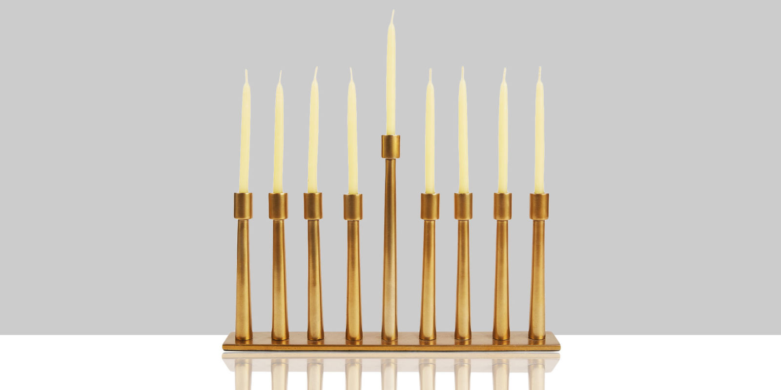 13 Modern Menorahs for 2016 Best Gold and Glass Menorahs  : landscape 1449091930 modern brass menorah from www.bestproducts.com size 1600 x 800 jpeg 66kB