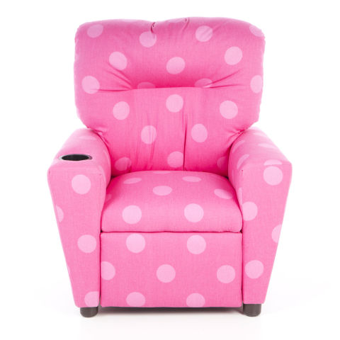 kidz world juvenile oxygen kids recliner pink polka dot  sc 1 st  BestProducts.com : mini recliner chairs - islam-shia.org