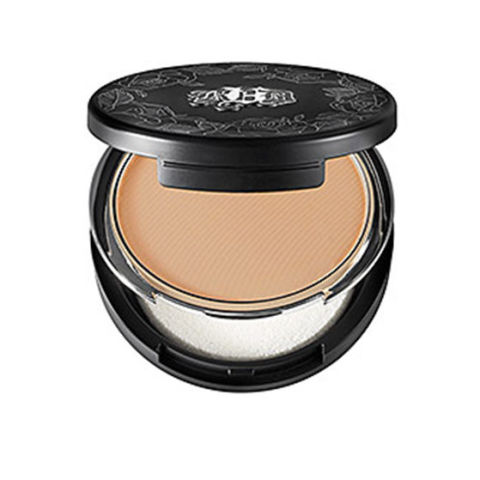 Or, you can start with a liquid foundation and top it with your powder foundation. Doubling up gives you more coverage and the powder helps set the liquid so it doesn't make your skin look oily, says Almodovar.