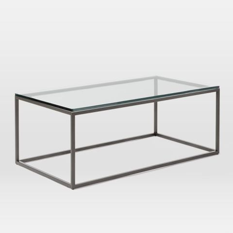 west elm box frame coffee table glass - 12 Best Glass Coffee Tables In 2017 - Glass Top Coffee Table Reviews