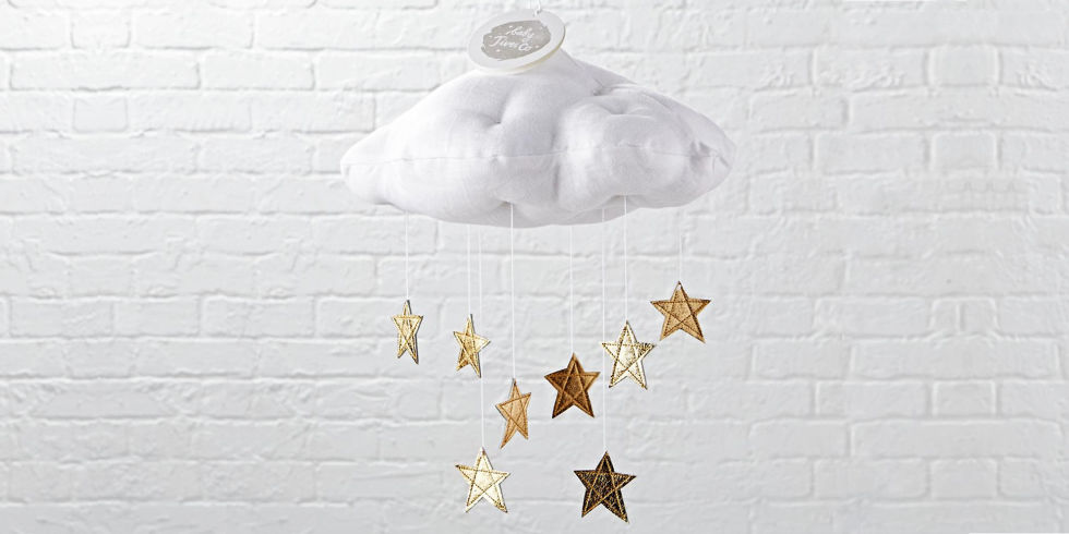 Land of Nod cloud and star crib mobile - 12 Best Crib Mobiles For The Nursery In 2017 - Projection And