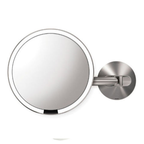simplehuman Wall Mount Sensor-Activated Lighted Makeup Mirror