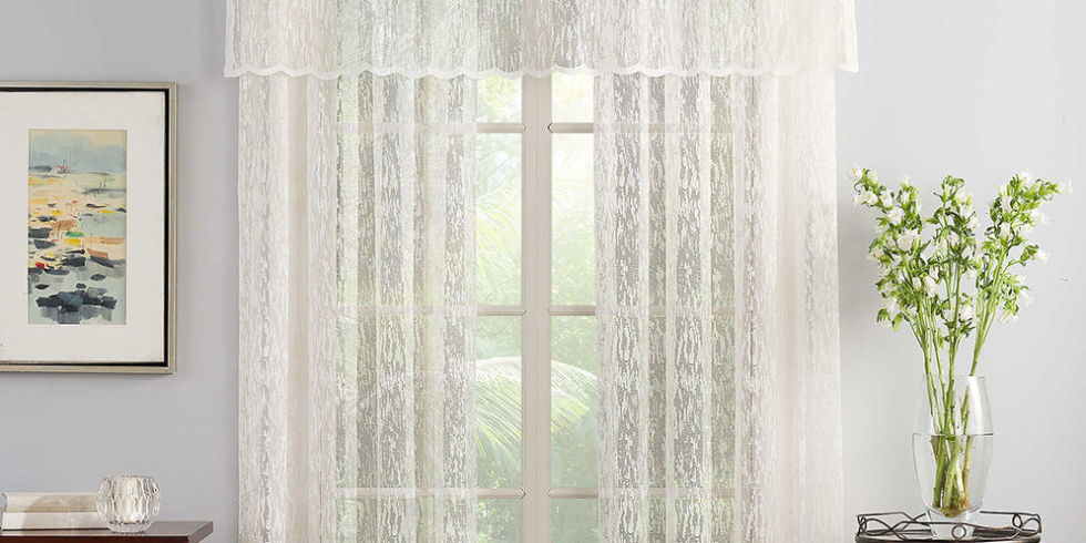 Image result for Lace window treatments