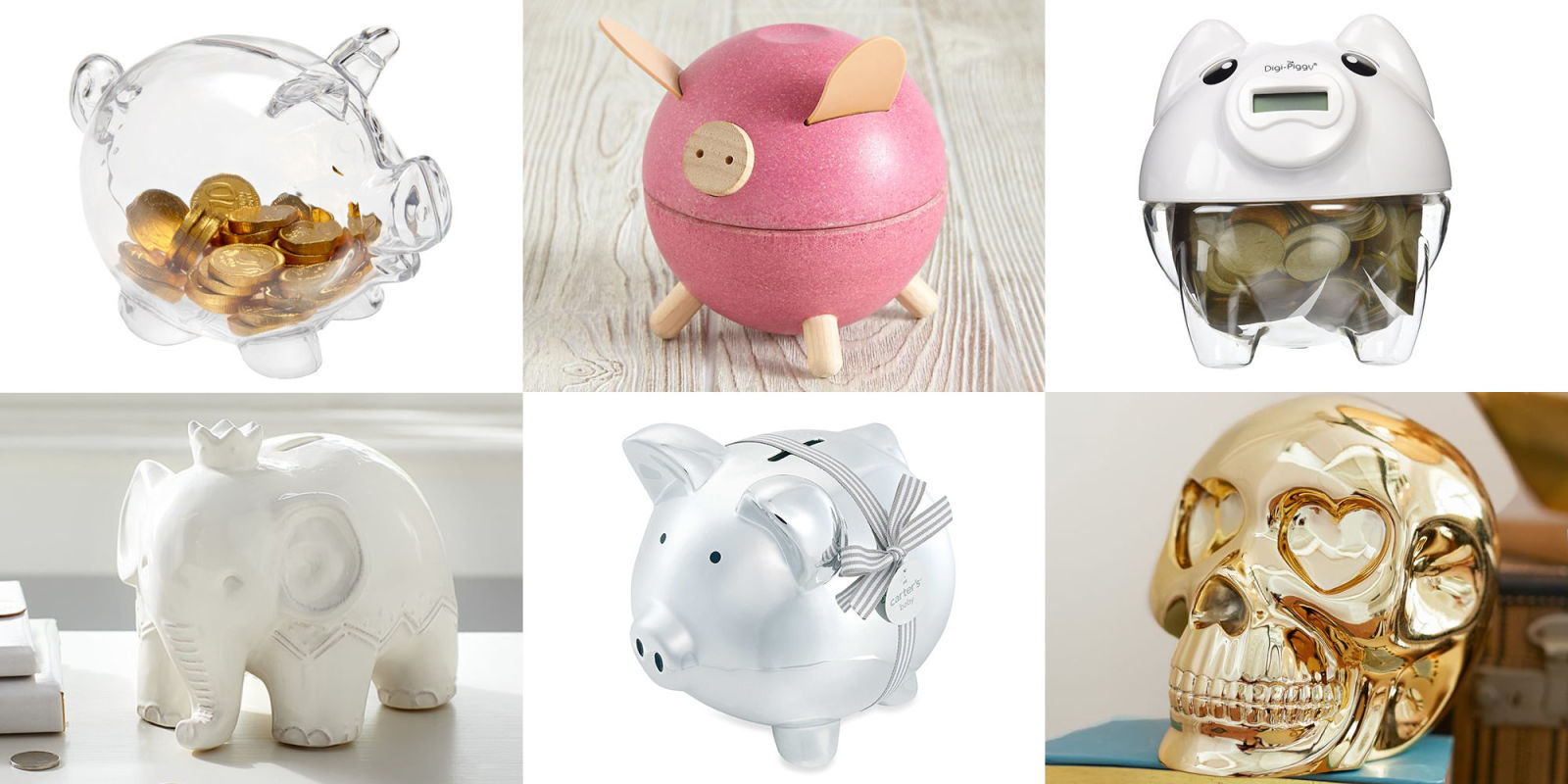 10 best piggy banks for kids in cute plastic and ceramic piggy banks
