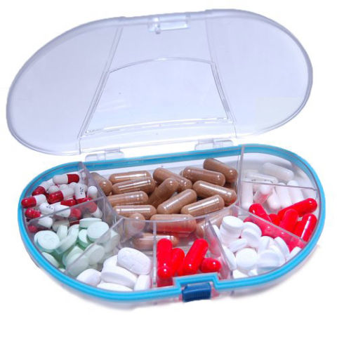 Gasketed Vitacarry 8 Compartment Waterproof Pill Box