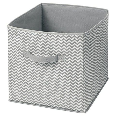 InterDesign Chevron Fabric Foldable Nursery Storage Cube