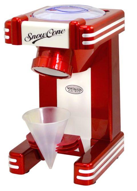 snow cone machine nostalgia