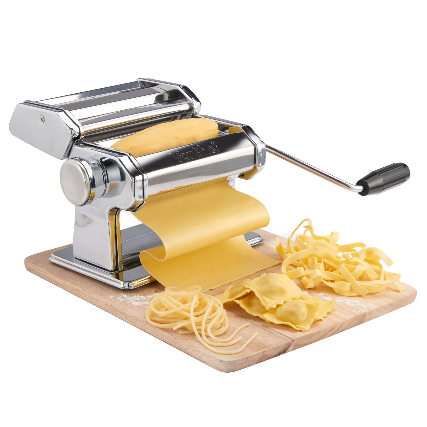 kitchen aid gadgets with Pasta Makers And Machines on Aroma White 6 Cup Pot Style Rice Cooker And Food Steamer Tray also 158751955587834491 in addition The Martha Stewart Show Set Tour together with Top Rated Meat Grinders as well Outstanding Qvc Kitchen Appliances.