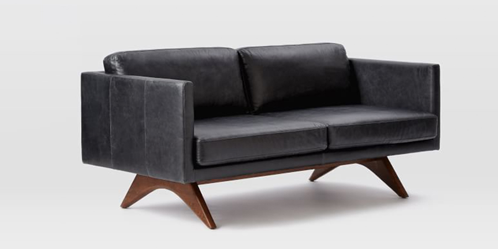 10 best leather sofas in 2018 reviews of brown and black for Best west elm sofa
