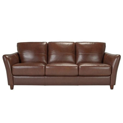 Raymour Flanigan Bexley Leather Sofa
