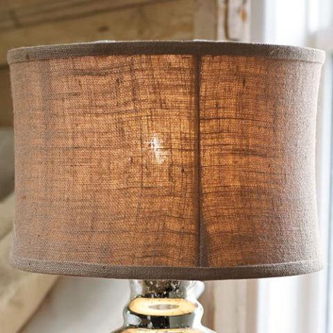 pottery barn burlap flared drum lamp shade - Drum Lamp Shades