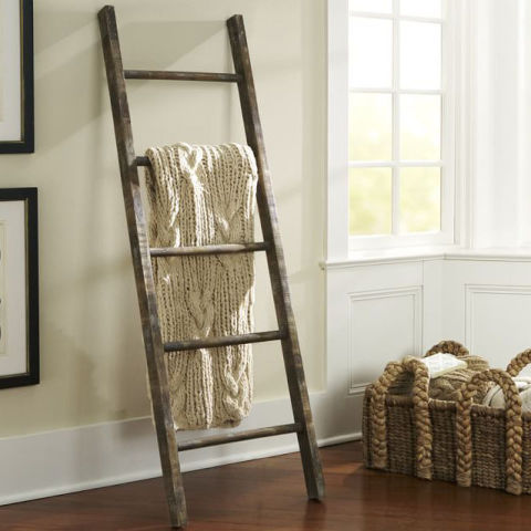 2018 39 S Best Blanket Ladders For Throws Display Blankets On Decorative Ladders