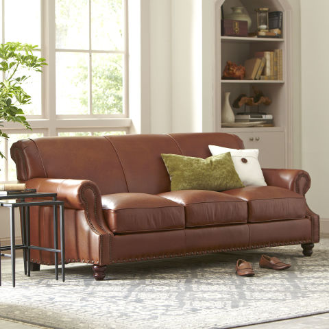 10 best leather sofas in 2018 reviews of brown and black for Best place to buy a leather sofa