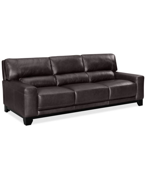 Macy's Luke II Leather Sofa