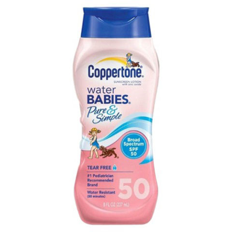 coppertone water babies pure and simple sunscreen lotion spf 50