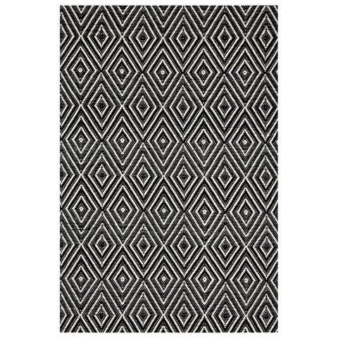 dash and albert rugs woven black ivory diamond indooroutdoor area rug