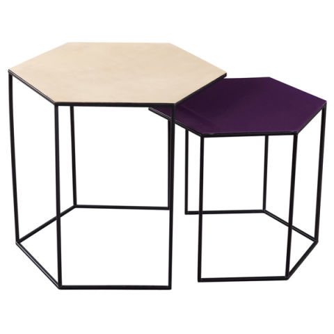 Overstock Gold And Purple Nesting Tables India