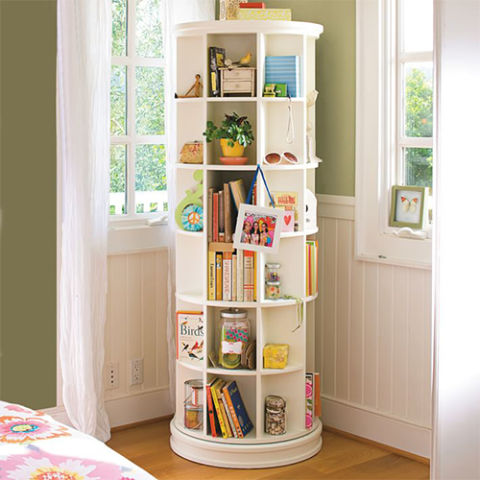 PBteen Revolving Bookcase - 10 Best Kids Bookcases And Shelves 2017 - Unique Kids Bookcases