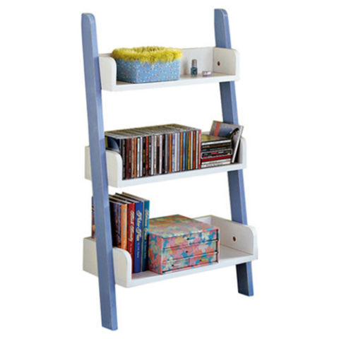 Tms Children S Ladder Bookcase Blue And White