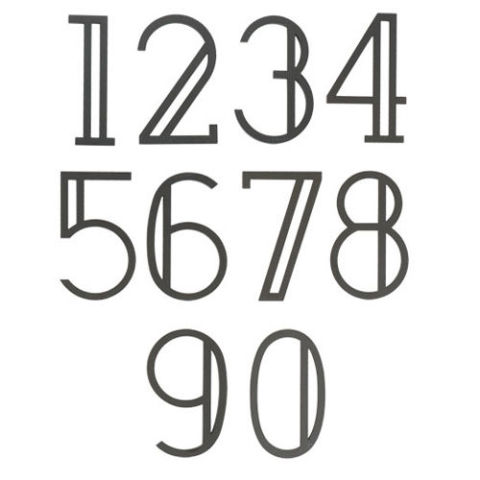 Deco style house numbers