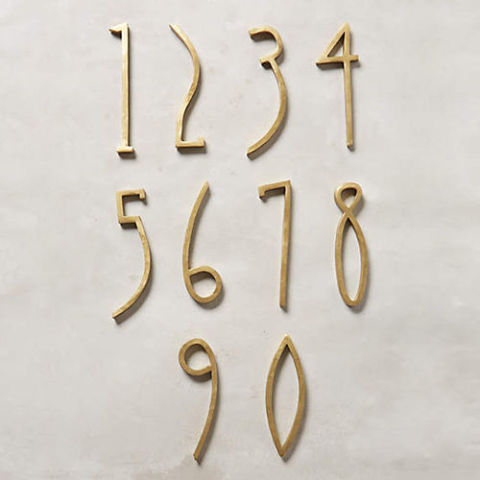bolton 4 inch solid brass house numbers home depot hand welded - Brass House Numbers – Massagroup.co