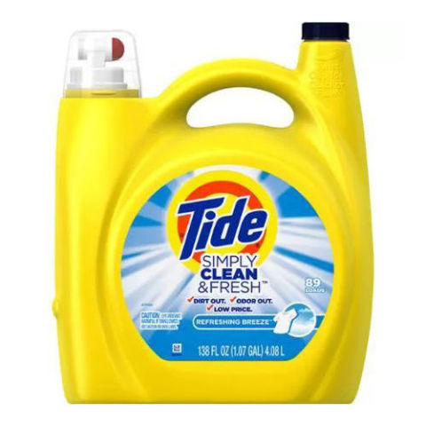 Tide Simply Clean and Fresh Refreshing Breeze Liquid Laundry Detergent