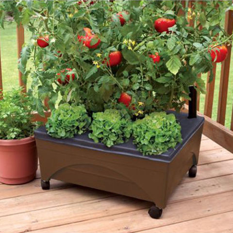 Earth Brown Resin Raised Garden Bed