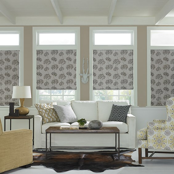 9 best roman shades and blinds 2018 structured roman for Roman shades for bay windows