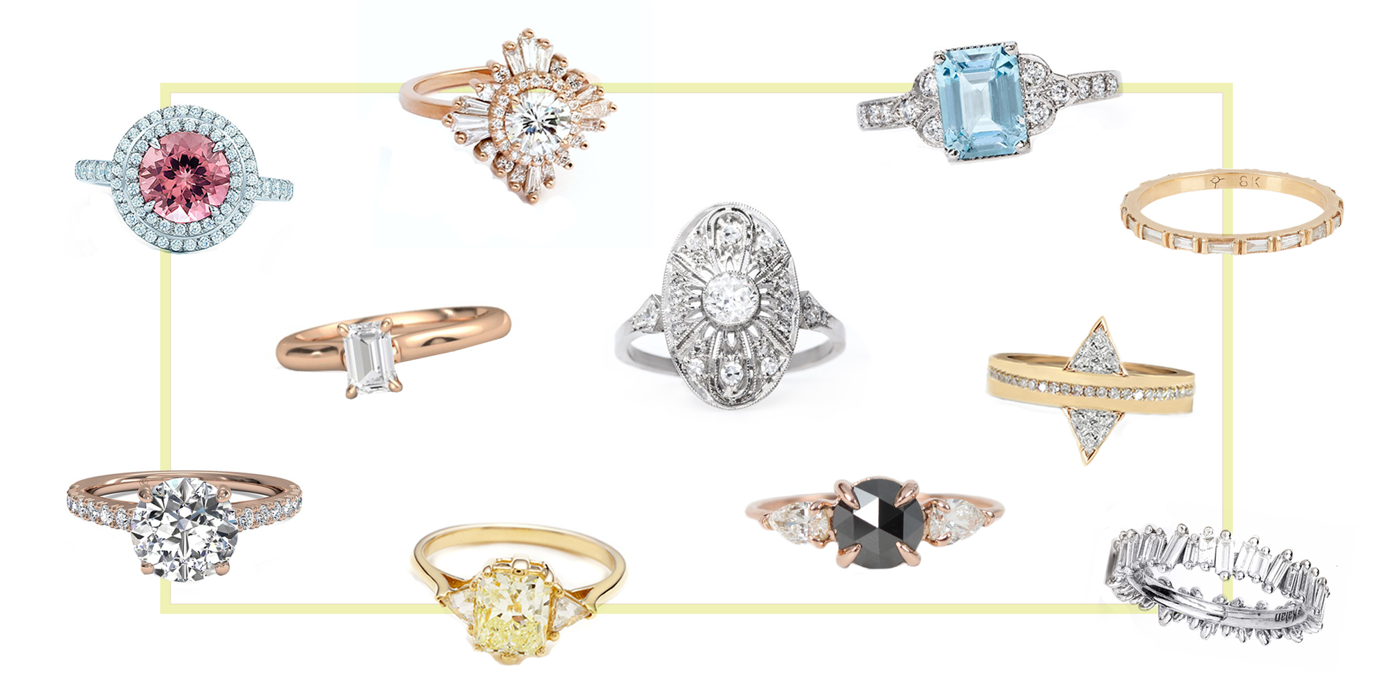 15 Best New Engagement Ring Styles In 2017 Vintage Non Traditional Engagement Rings