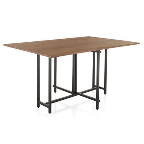 Crate & Barrel Origami Drop Leaf Rectangular Dining Table - 10 Best Drop Leaf Tables In 2017 - Chic & Convenient Drop Leaf