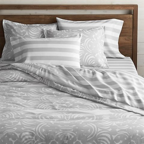 The best gray bedding comforters in 2018 chic grey for Crate barrel comforter