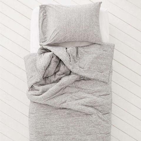 locust spacedye jersey comforter - Grey Comforters