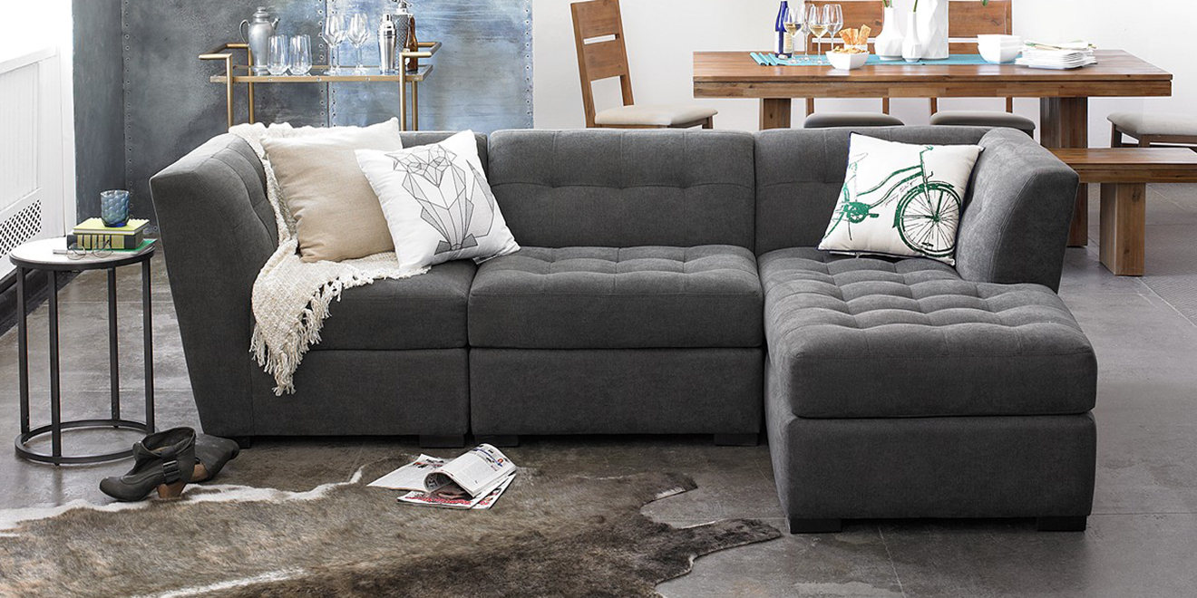 9 best sectional sofas couches 2018 stylish linen and for Best sectional sofa