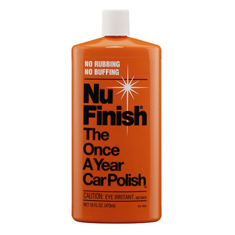 "from $9 BUY NOW Nu Finish has been on the market for ages, and people who use it continue to swear by it. Touted as the ""Once-A-Year Car Polish,"" Nu Finish is the only wax-free option on the market, and is hugely popular in markets where snow, ice, and salt are a problem. Weather will wear down a traditional wax, whereas Nu Finish seems to last well through the winter months."