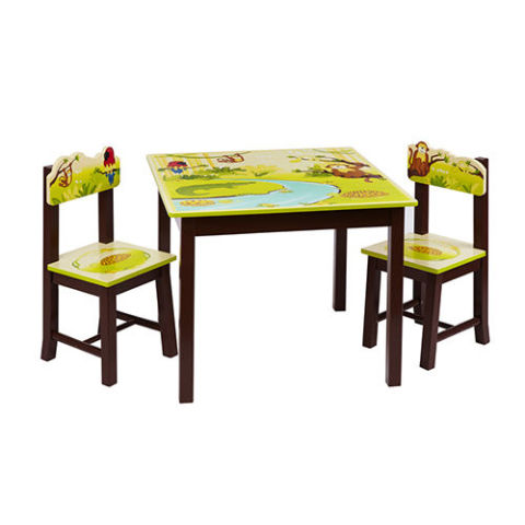 guidecraft jungle party table chairs set
