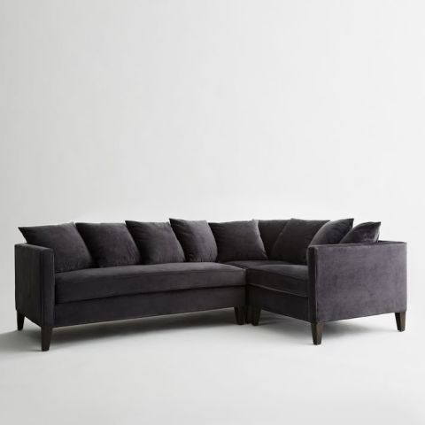 West Elm Dunham Down-Filled 3-Piece Sectional : stylish sectionals - Sectionals, Sofas & Couches