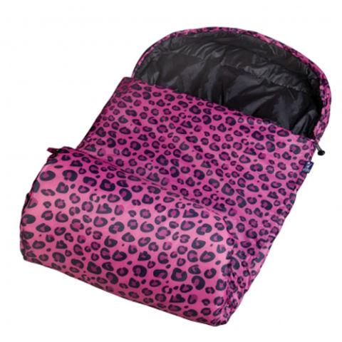 5 Wildkin Stay Warm Pink Leopard Sleeping Bag