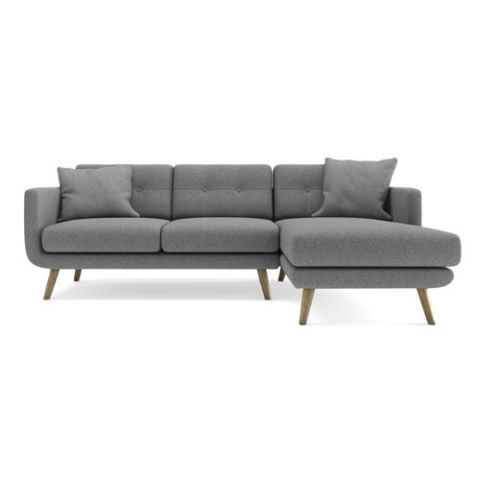 URBN Wagner Three-Seater Sectional Sofa with Right Arm-Facing Chaise Set  sc 1 st  BestProducts.com : what is chaise - Sectionals, Sofas & Couches