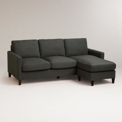 world market charcoal gray textured woven abbott sofa - Best Sofas In The World
