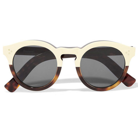 tortoise shell sunglasses yf02  illesteva half tortoise round leonard sunglasses
