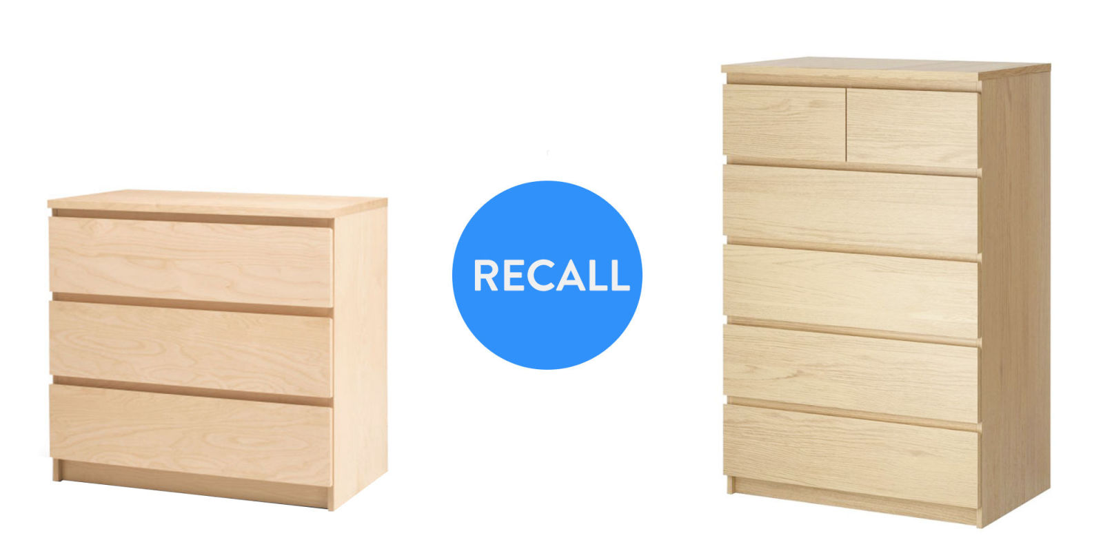 ikea recalls malm dresser drawers due to three toddler deaths