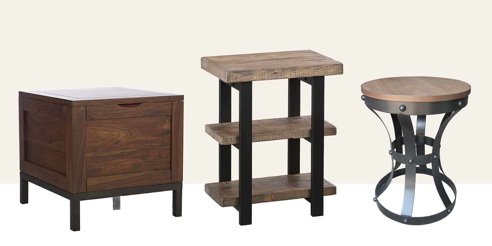 15 Best Rustic End Tables In 2018 Modern Country Wood