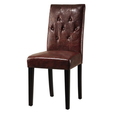 13 Best Leather Dining Room Chairs in 2017 - Leather Side, Arm ...
