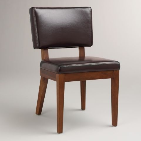 World Market Espresso Bonded Leather Sophia Chairs